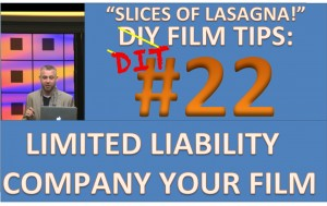 DIY Film Tips #22 - Limited Liability Company for Your Film - My Movie LLC - SLices of Lasagna
