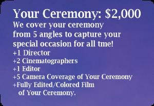 Wedding brochure-Ceremony